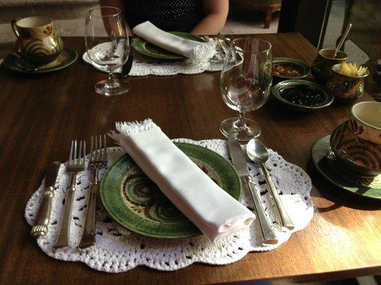 Inkaterra La Casona: Dining table