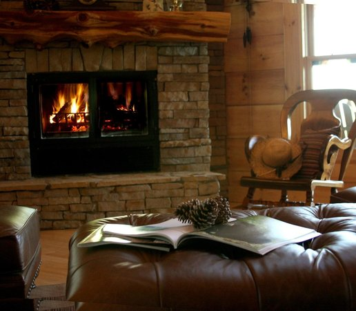 Chilhowee Mountain Retreat : Cozy up to fire