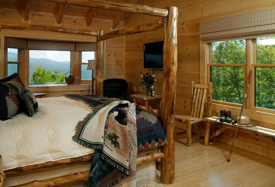 Chilhowee Mountain Retreat : Wildflower Room with mountain views