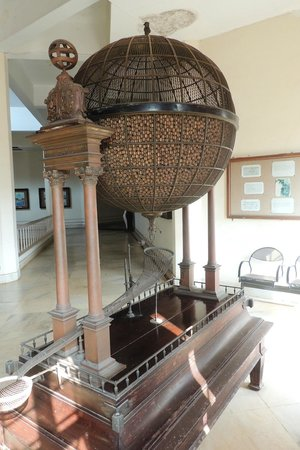 Goa State Museum: View of the Historic wooden Lottery machine 2