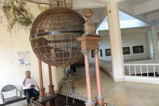 Goa State Museum: view of the Historic wooden Lottery machine