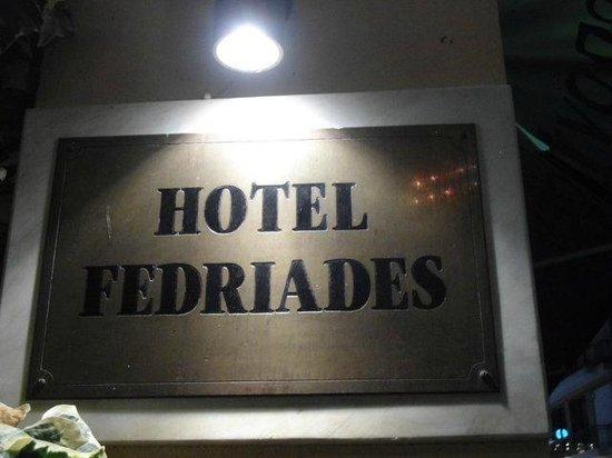 Fedriades Delphi Hotel : insegna