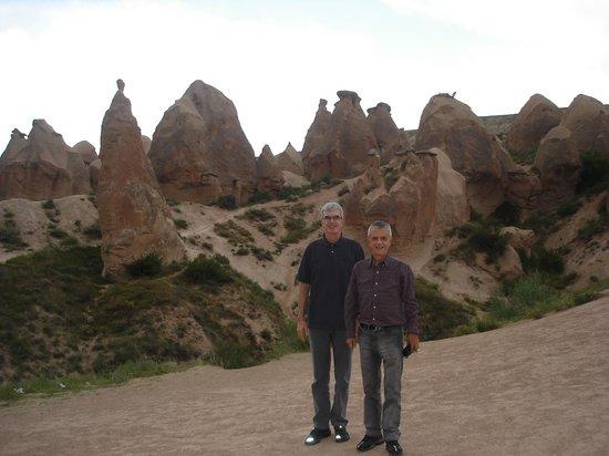Interesting rock formations at the Pasabag Valley in Kapadokya
