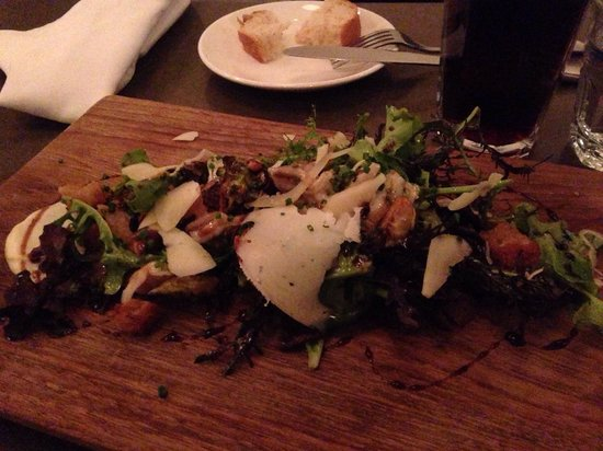 Richmond Station: Amazing mushroom and brussel sprout salad