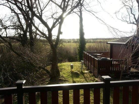 Lindale Holiday Park : View from Pine Lodge