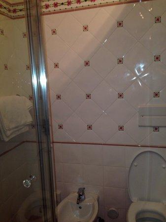 Hotel Dahu: Bagno stanza 107