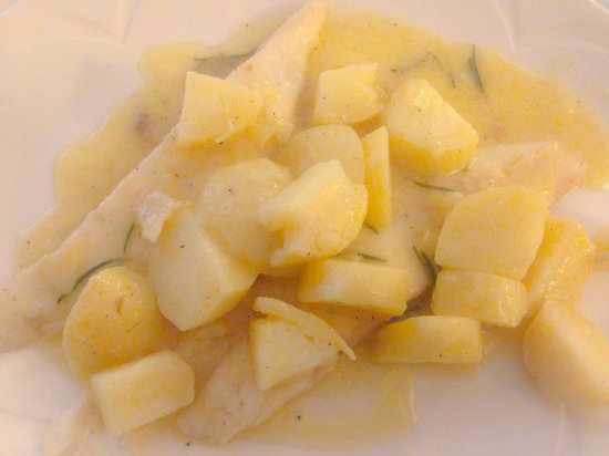 Al Caminetto: Filetto di rombo con patate