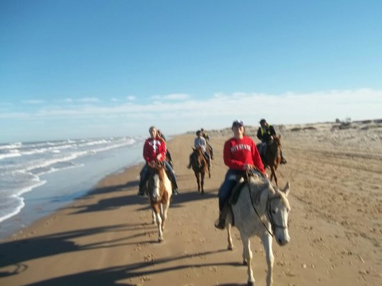 South Padre Island Adventure Park: Strolling along the gulf..