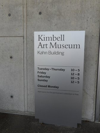 Kimbell Art Museum: Museum sign