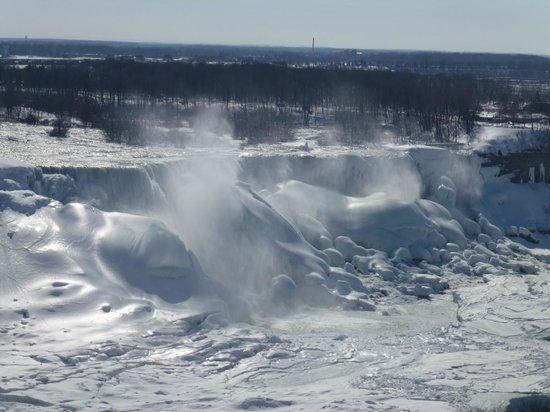 Sheraton on the Falls Hotel : Frozen Niagara Falls. March 7, 2014