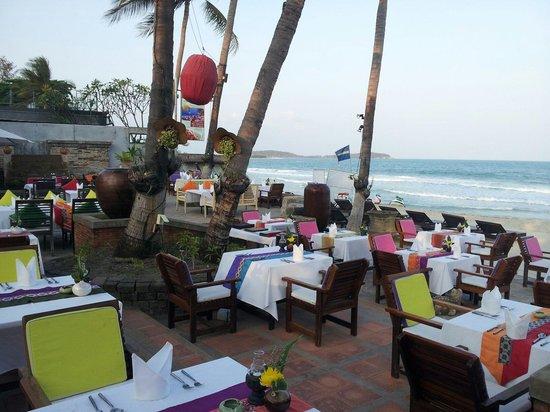 Beach front at Eat sense beach restaurant Samui.