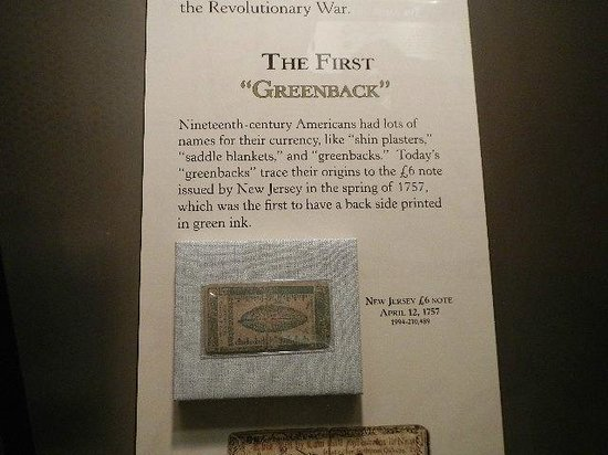 DeWitt Wallace Decorative Arts Museum : 1st greenback