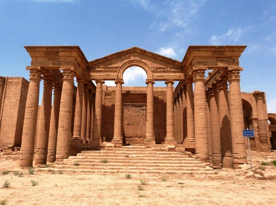Hatra (Arabic: الحضر‎ al-Ḥaḍr) is an ancient city in the Ninawa Governorate In Iraq .