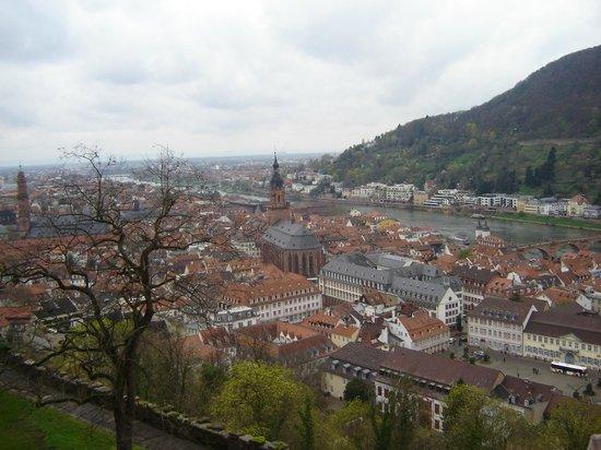 Schloss Heidelberg: veduta della città dal Castello