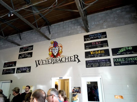 Weyerbacher Brewing Company : What they had on tap for that day.