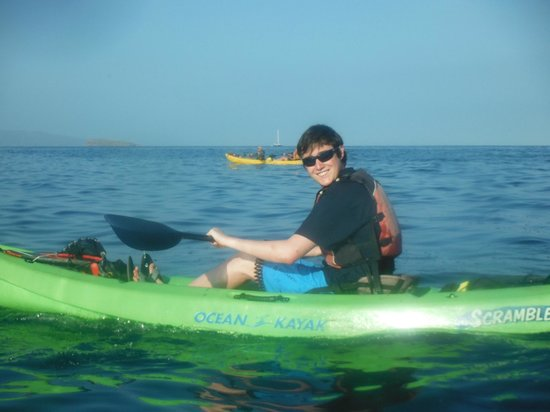 Kelii's Kayak Tours : Our 15 year old on the ocean