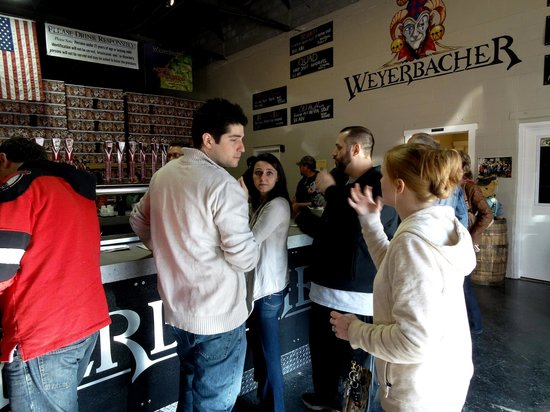 Weyerbacher Brewing Company : Having a great time trying all the different beers