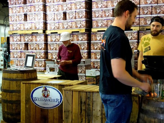 Weyerbacher Brewing Company: You could purchase cases of beer if you like, OR they even sell them by the bottle!