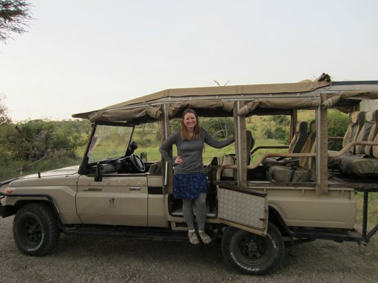 Porini Mara Camp: me and the safari vehicle - so comfy!