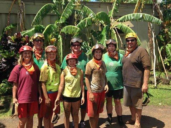 Kauai ATV Tours: Post ATV ride and muddy!