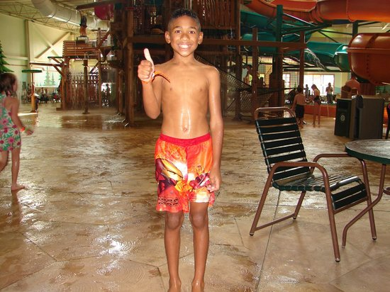 Great Wolf Lodge: B-Day Boy would get wet all day if you let him!