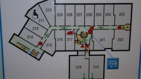 Hotel Le Portetta: Hotel layout
