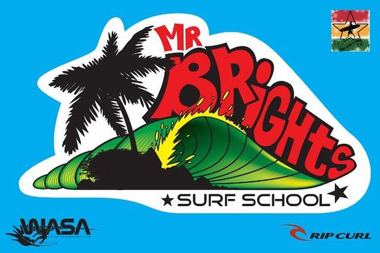 Mr Brights Surf School: Logo