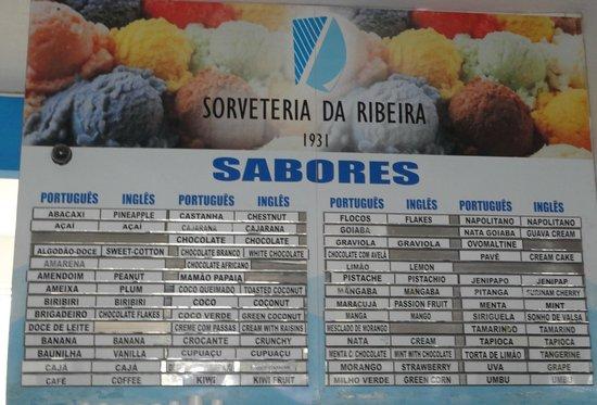 Sorveteria da Ribeira : Otimos sorvetes!