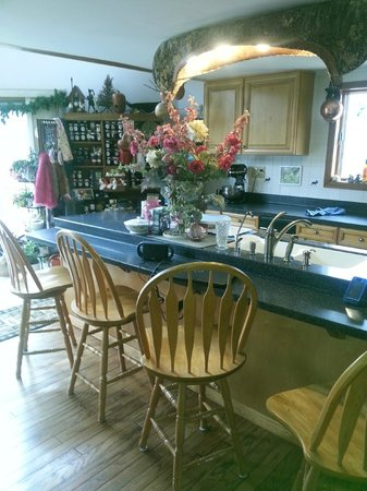 At Home In The Woods Bed And Breakfast : Victoria's Kitchen - where she prepares delectable food!