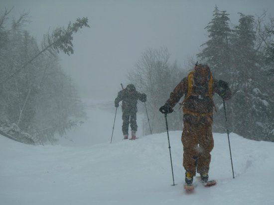 International Mountain Climbing School: Skinning Up Mt Washington