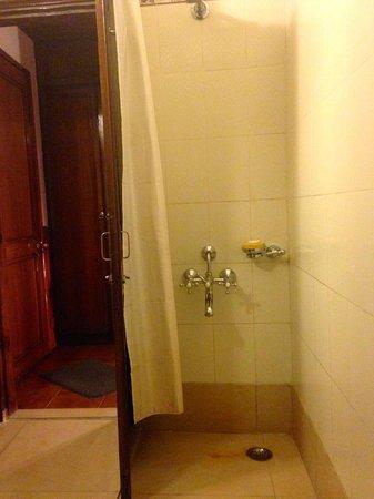 Hotel Centre Point : Bathroom. Shower behind door.