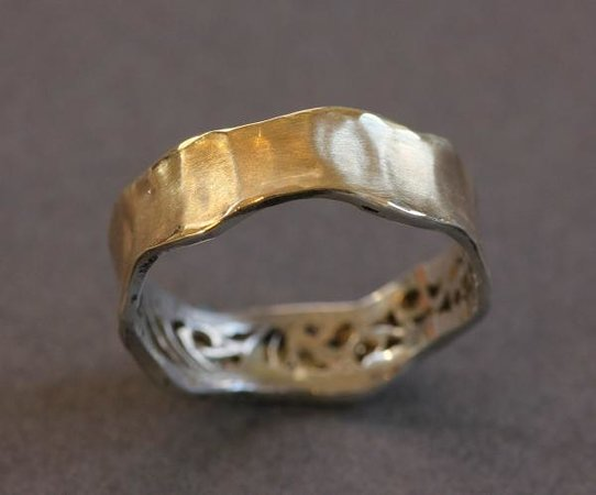 DeLong Studio: Gold plated sterling silver band