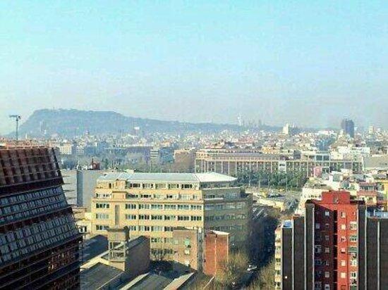 Novotel Barcelona City: Montjuïc from the 14th floor