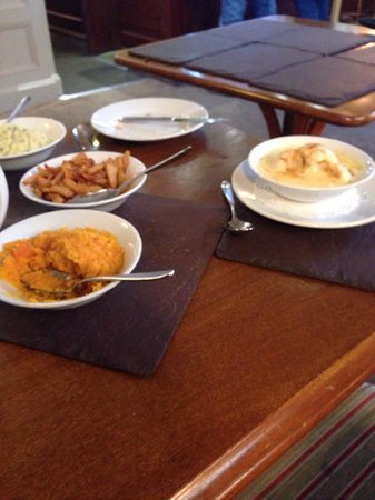 The Lamplighter Dining Rooms: Selection of sides with Sunday lunch