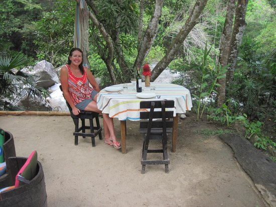 """EcoLodge """"La Bonita"""": A wonderful breakfast with a beautiful view of the river."""