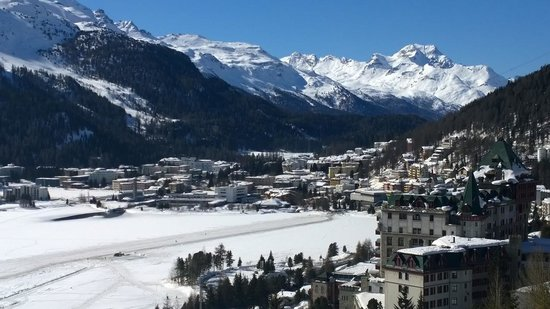 Kulm Hotel St. Moritz: The view from my room