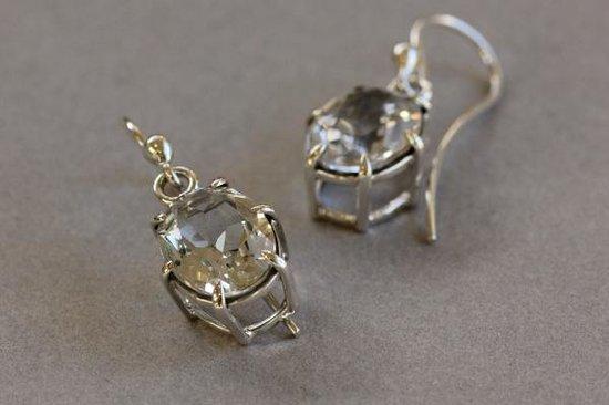 DeLong Studio: Faceted white topaz earrings