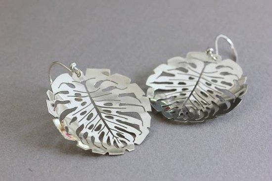 DeLong Studio: Cut-out leaf earrings