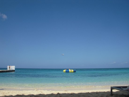 "Doctor's Cave Beach: ""floater"" in sea can be swam too"