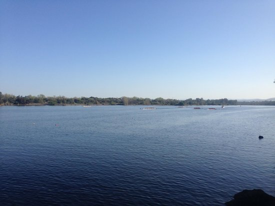 Lake Natoma: view of lake looking West