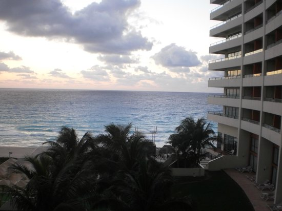 Crown Paradise Club Cancun: view from our balcony...room 1206 (2nd floor)