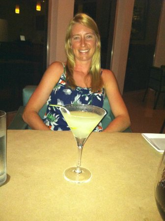 El Segundo: My daughter with her ginger martini