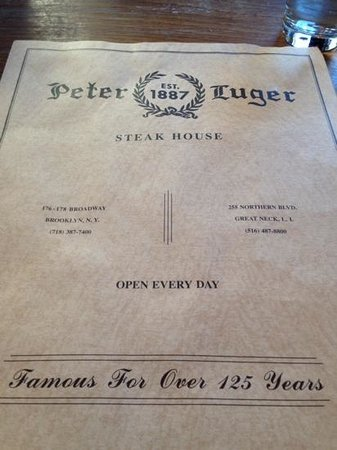 Peter Luger Steak House : Says so here, so it must be true!