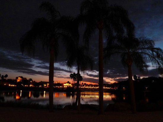 Disney's Coronado Springs Resort: Sun Set view from our room