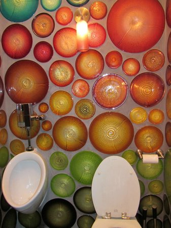Seattle Glassblowing Studio: Men's bathroom.... need I say more?