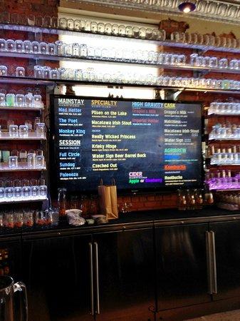 New Holland Brewing Company : TV Menu Board