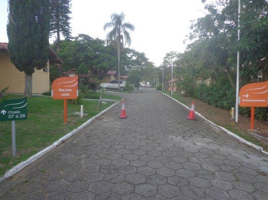 Hotel Sesc Cacupe : Vista de uma das ruas do hotel