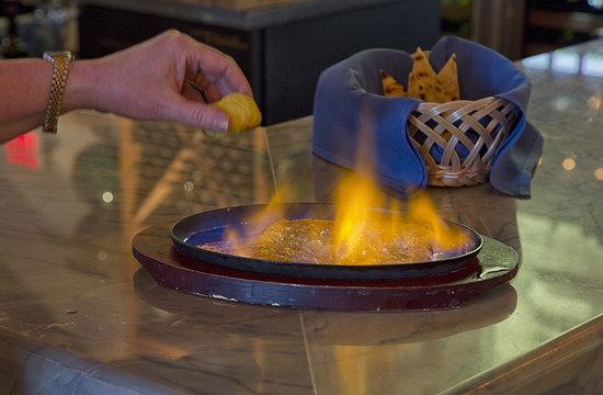 Jimmy's Taverna: Flaming Saganaki