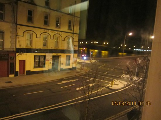 Treacys Hotel Waterford: View from window - river and bridge are on right.