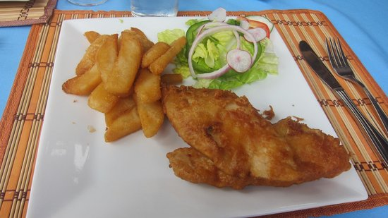 Shirvan Watermill Restaurant: Beer Battered Fish and Chips